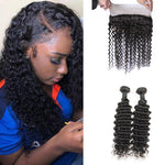 Queen Hair Inc [Sale] 9A Deep Wave 2/3 bundles with 360 lace frontal