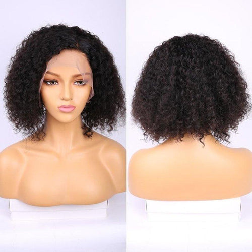 Queen Hair Inc 10a+ 130% Bob Wig Virgin Hair Deep Wave #1B