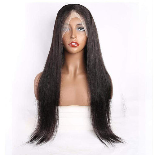 Queen Hair Inc 10a+ 150 Density Virgin Hair 13*6 HD Lace Frontal Wigs Silky Straight invisible lace 100% Human Hair