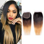 Queen Hair Inc Ombre Closure 4x4 Three Tone 1B/4/27 Straight