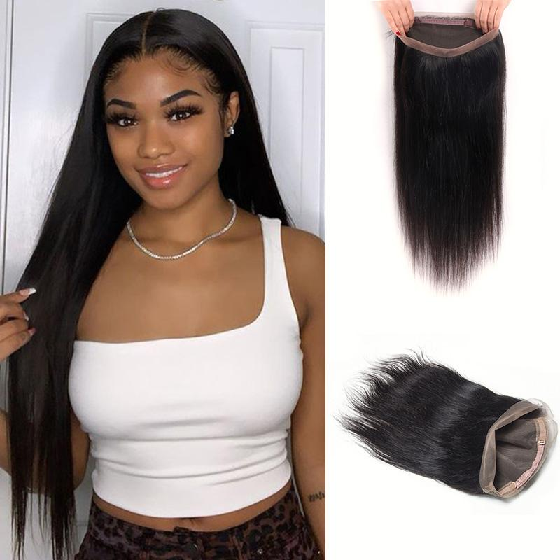 Queen Hair Inc Wholesale 360 Lace Frontal Straight 100% Human Hair