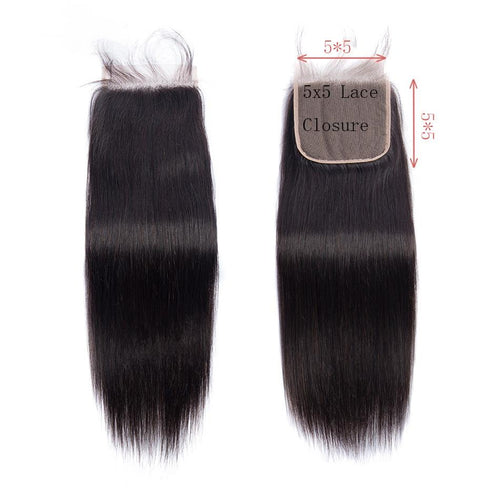 Queen Hair Inc Wholesale 5x5 Lace Closure Free Part Straught 100% Human Hair