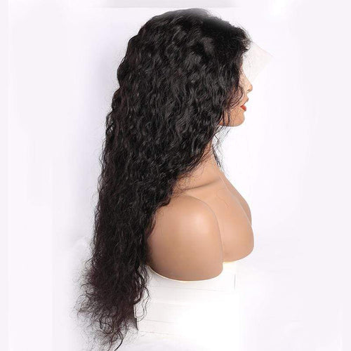 Queen Hair Inc 10a+ 150 Density Virgin Hair 13*6 HD Lace Frontal Wigs Water wave invisible lace 100% Human Hair