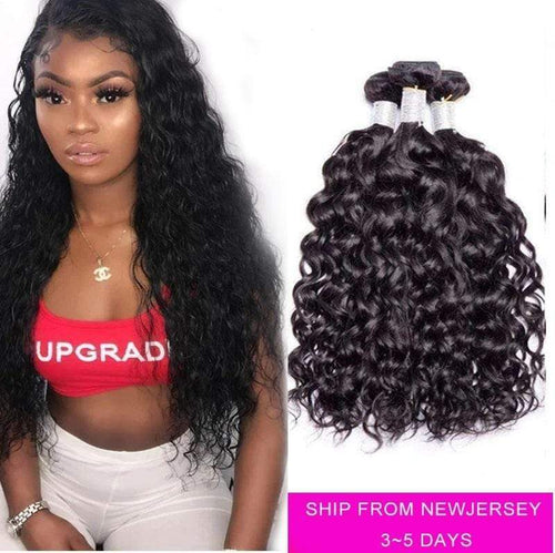 Queen Hair Inc Grade 9A Water wave  3/4 bundles No Tange No Shedding