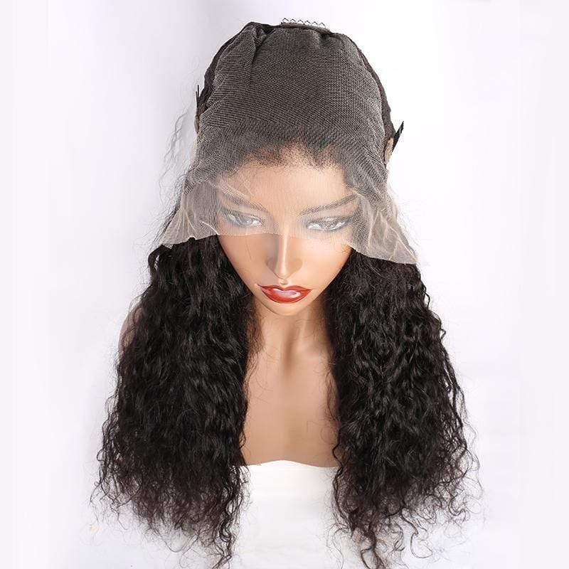 Queen Hair Inc Wholesale 10a+ 150 Density Virgin Hair 13*6 HD Lace Frontal Wigs Water Wave invisible lace 100% Human Hair