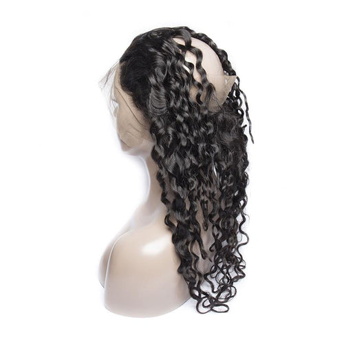 Queen Hair Inc Wholesale 360 Lace Frontal Water Wave 100% Human Hair