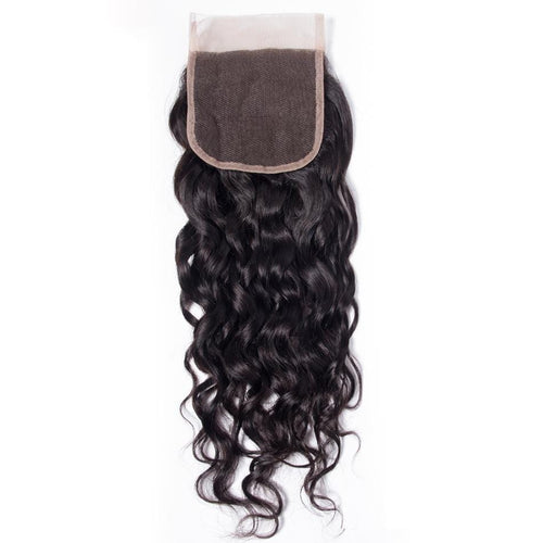 Queen Hair Inc Wholesale 5x5 Lace Closure Free Part Water Wave 100% Human Hair