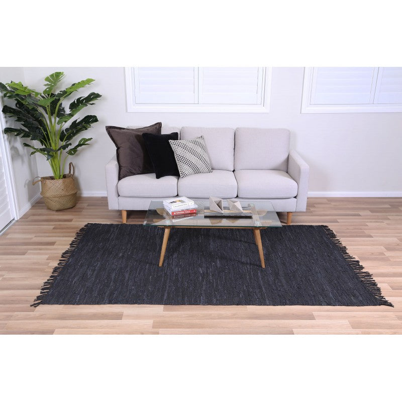LOTSY LEATHER RUG