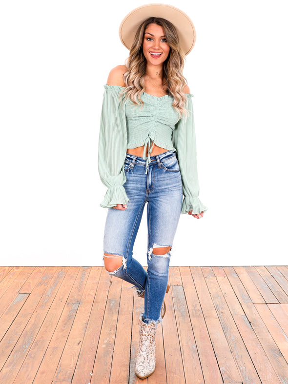 The Perfect Escape Off Shoulder Smock Top