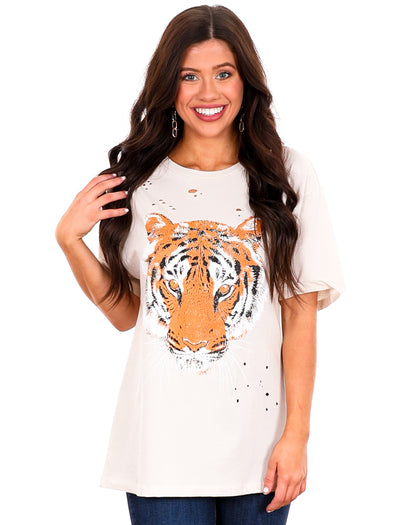 Distressed Tiger Graphic Tee