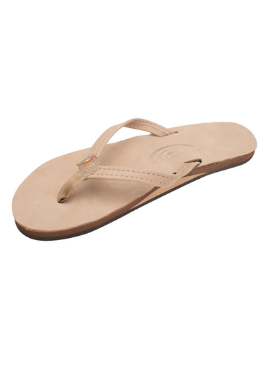 Narrow Strap Premier Leather Sandal - Sierra Brown