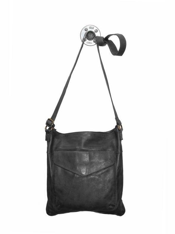 Val Black Latico Leather Shoulder Bag