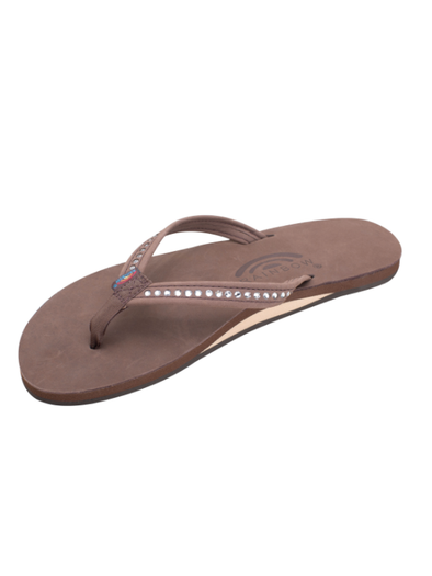 Crystal Collection Leather Sandal - Expresso