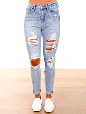 Make You Happy Cuffed Jeans