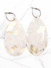 Gold Brushed Cowhide Leather Earrings