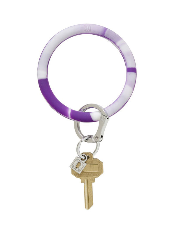 Deep Purple Marble Big O Key Ring