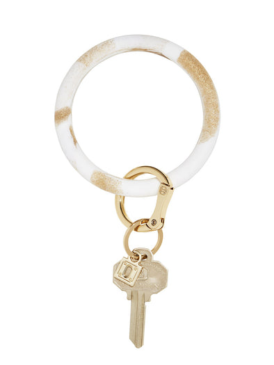 gOld rush marble silicOne Big O Key Ring