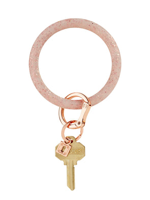 rOse gOld cOnfetti silicOne Big O Key Ring
