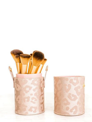 Hollis Brush Holder - Leopard Lux