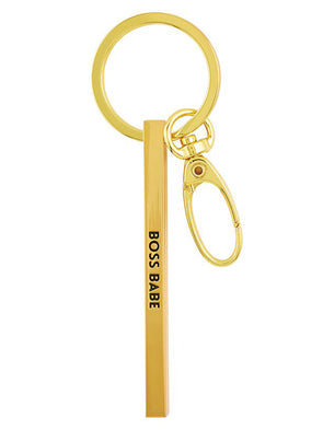 Boss Babe Bar Keychain