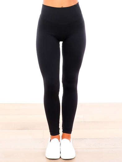Spanx Look At Me Now Very Black Leggings