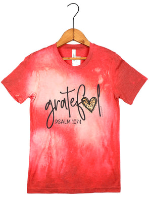 Grateful Heart Bleached Vintage Tee