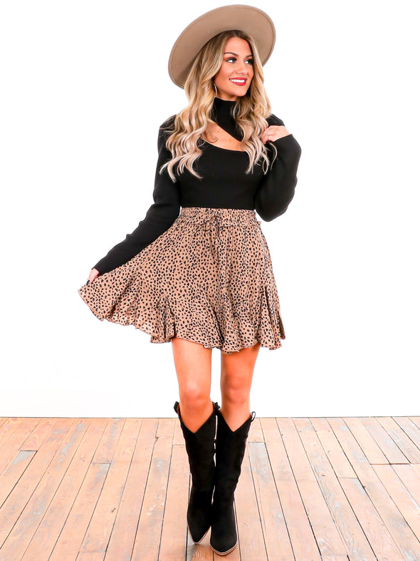 Fun and Flirty Leopard Twirl Skirt