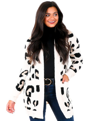 Curvy If You Come Back Leopard Cardigan