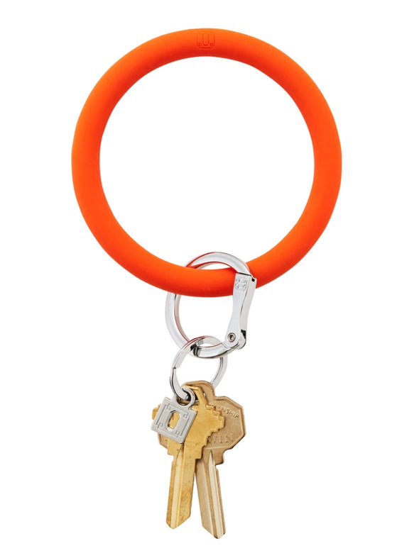 Orange crush silicOne Big O Key Ring