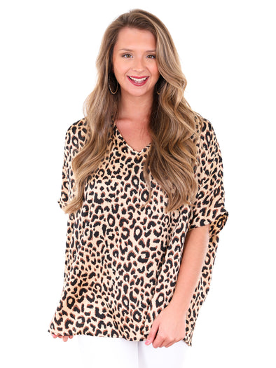Business Chic Leopard Top