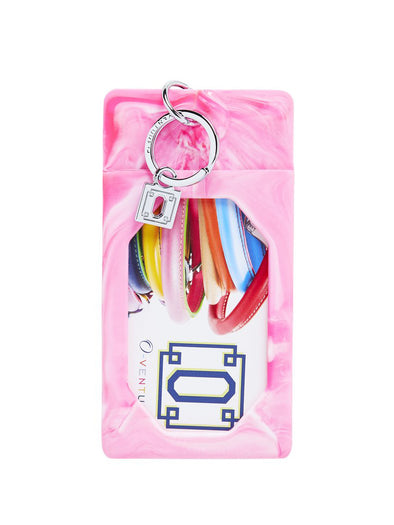 Tickle Pink Marble silicOne ID Case