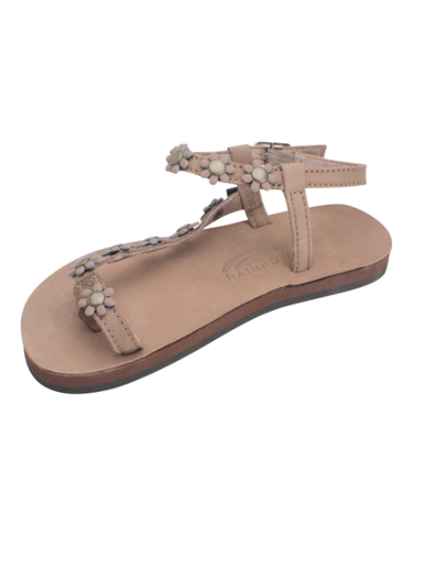 Kids Delilah Flower Sandal - Dark Brown