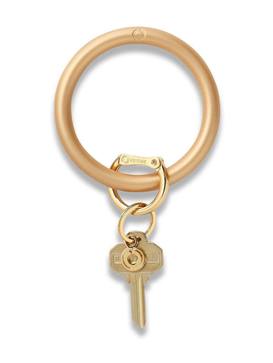 sOlid gOld Rush silicOne Big O Key Ring