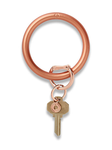 sOlid rOse gOld silicOne Big O Key Ring
