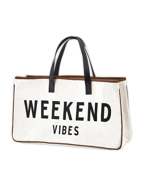 Weekend Vibes Canvas Tote