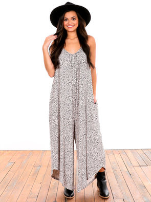 Z Supply Sandshell Mini Leopard Jumpsuit