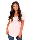 Z Supply Pale Blush Pocket Tee