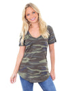 Z Supply Green Camo Pocket Tee