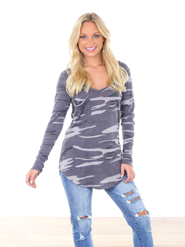 The Long Sleeve Camo Tee
