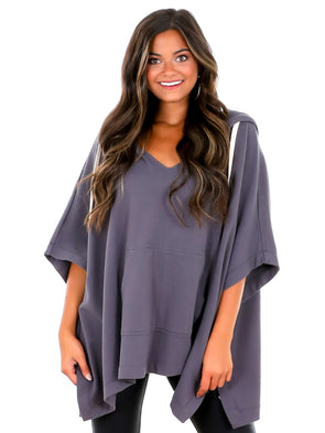 Z Supply Washed Grey Canyon Poncho
