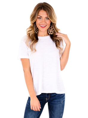 Z Supply White Trina Slub Tee