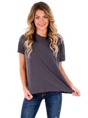 Z Supply Washed Grey Trina Slub Tee