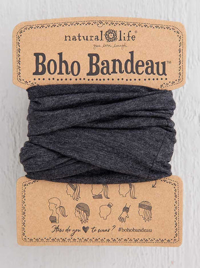Heather Charcoal Boho Bandeau