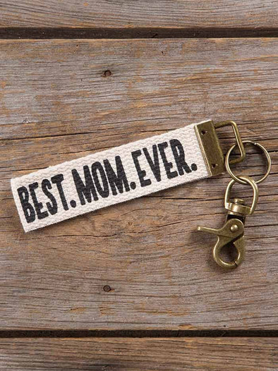 Best Mom Ever Canvas Key Fob