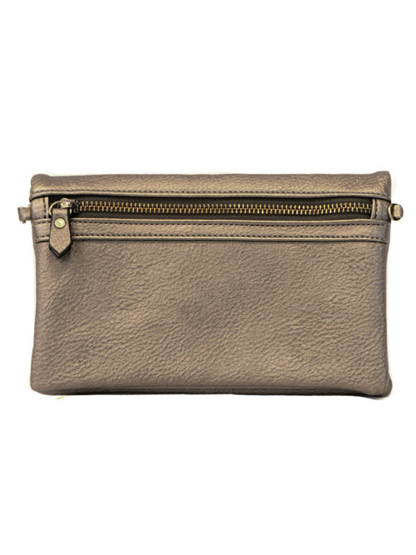 Pewter New Kate Crossbody Clutch