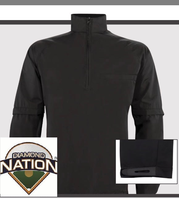 """NEW"" Diamond Nation Convertible Pullover Umpire Jacket"