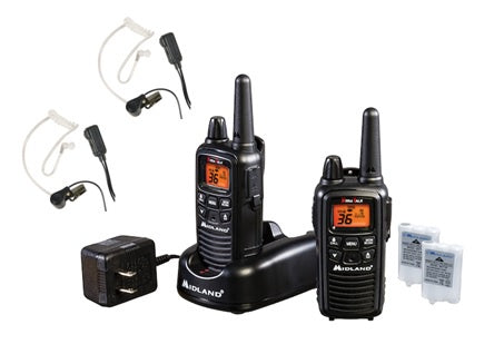 Midland LXT600BB Radio/Headset Bundle-2 Pack