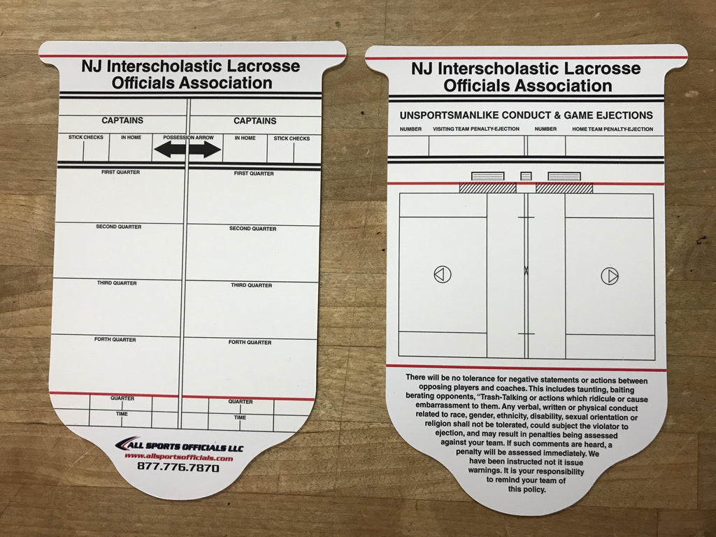 New Jersey Lacrosse Reusable Lacrosse Card