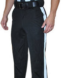 Smitty 4-Way Black Football Pant With White Stripe