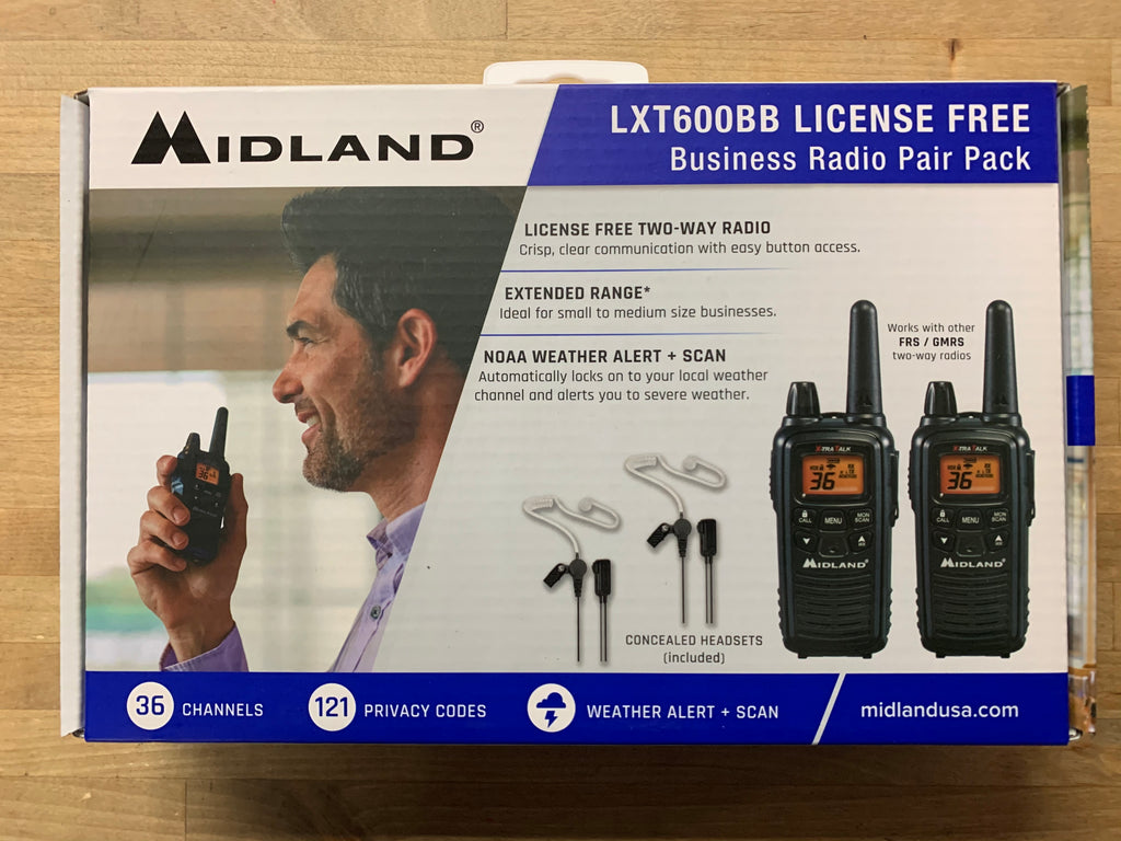 Midland LXT600BB Radio/Headset Box Bundle